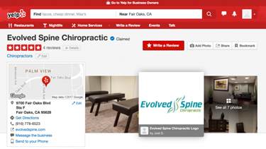 Screenshot of 5 Star Rated Gold River Chiropractor- Evolved Spine Chiropractic